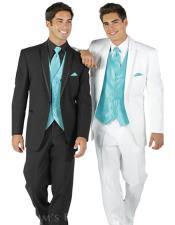 JSM-5103 Teal Blue Tuxedo For Men