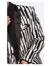 Mens black stripe designed
