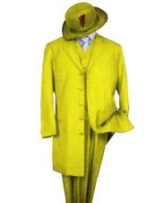 mens Classic Long Fashion yellow