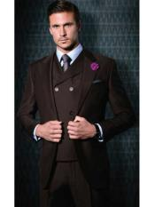 SM1228 3 Piece Suit Vested 1 Button Style Suit
