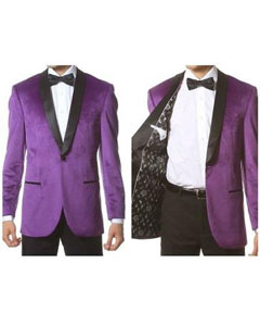 PN-N62 1 Button Style Velvet ~ Velour Tuxedo With