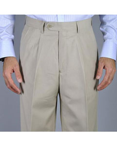 KA8883 Bone Single Pleat Pants