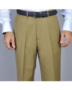 KA8884 Camel Single Pleat Pants