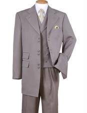 JSM-2332 Mens 6 Button Wide Notch Lapel 100% Polyester
