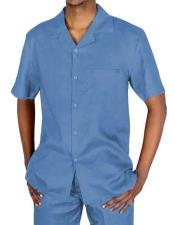 JSM-1426 Mens 5 Button Casual 2 Piece Sky Blue