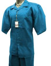 Mens Sky Blue Short Sleeve