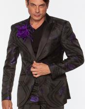 Mens Sportcoat Sky Purple