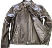 KA8762 Geuine Leather Moto Jacket Distressed Slim narrow Style
