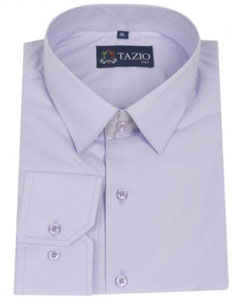 RQ8453 Dress Shirt Slim narrow Style Fit Lavender