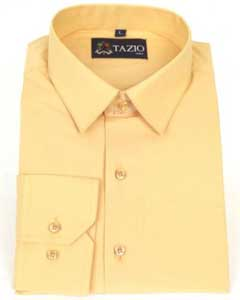KA6698 Dress Shirt Slim narrow Style Fit - Peach