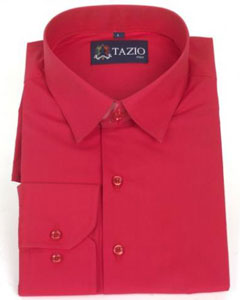 RF4896 Dress Shirt Slim narrow Style Fit red color