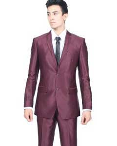 PN_0G Slim narrow Style Fit Shiny Flashy Burgundy ~
