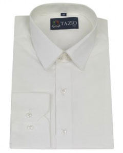 KA5791 Dress Shirt Slim narrow Style Fitted White