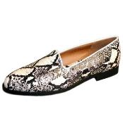 Mens Natural Snakeskin Loafers