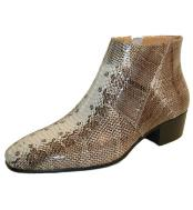 Natural Snakeskin Cuban Heel
