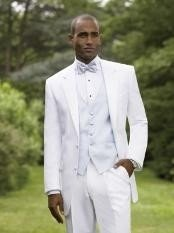 Y722MU Snow White Notch Lapel Tuxedo single breasted styling