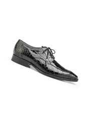 mens Black Genuine Alligator Lace