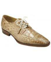 GD1756 Mens Split Toe Taupe Genuine Alligator Leather Lining