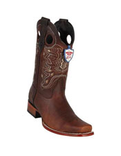 JSM-5296 Mens Dark Brown Handmade Wild West Genuine Rage
