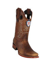 JSM-5297 Mens Wild West Genuine Rage Cowboy Leather Square
