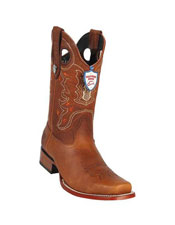 JSM-5298 Mens Wild West Cognac Genuine Rage Cowboy Leather