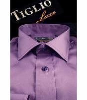 SD338 Tiglio Mens Satin Cotton Standard Cuff Modern Fit