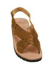 JSM-5323 Mens Exotic Skin Sandals in ostrich or Alligator
