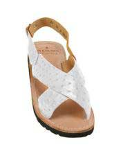 JSM-5337 Mens Exotic Skin Sandals in ostrich or Alligator