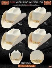 FSH1354 5000x Taco Style Western Cowboy Straw Hat