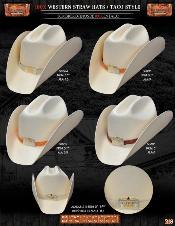 WST7912 100x Taco Style Western Cowboy Straw Hats