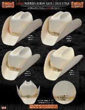MLP8912 1000x Taco Style Western Cowboy Straw Hat
