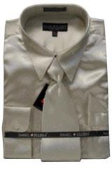 PN233 New Tan khaki Color ~ Beige Satin Dress