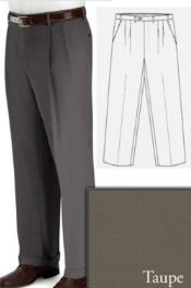 PN90 Big and Tall Dress Pants Slacks For Taupe