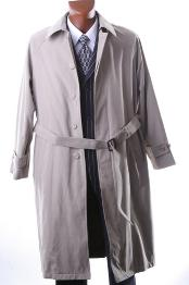 Taupe Full Length All Year Round Raincoat-Trench Coat