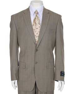 TP373 Light Taupe Stripe ~ Pinstripe 2-button Suit