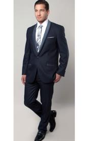 SM1317 Tazio Brand 1 Button Style Blue Two Toned