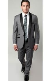 SM1314 Tazio Brand 1 Button Style Two Toned Trimmed