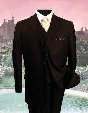 SKU36240 SM-08 Liquid Jet Black PINSTRIPE three piece suit