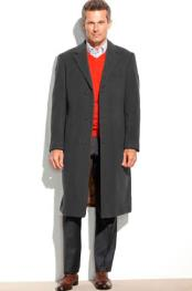 SM4813 Mens 95% Wool Overcoat ~ Topcoat (Cashmere Touch