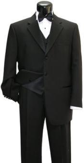 LQ632 Fabrini Tuxedo Shirt & Bow tie + Vest
