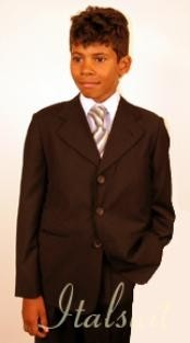 Boys Suits Three Button brown