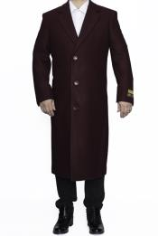 SM4806 Mens Full Length Wool Dress Top Coat /