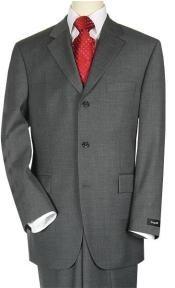 3 Buttons Style Suit Dark Dark
