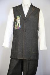 mens Egyptian Embroidere Zoot Suit