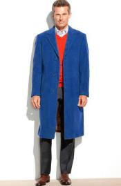 SM4826 Mens 3 Button 95% Wool Overcoat ~ Topcoat