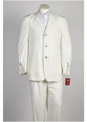JSM-248 Mens Off White 3 Button Suit
