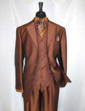 CH2436 mens high fashion Single Breasted Sharkskin rust vested