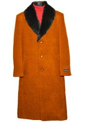 SM4430 Mens 3 Button Wool (Removable ) Fur Collar