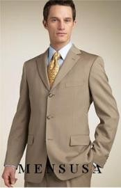 Zt8 Tan khaki Color ~ Beige/Bronz Superior Fabric 140s