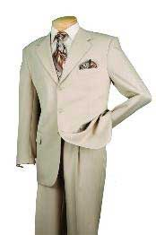 RM29830 Single Breasted 3 Button Style Beige affordable suit